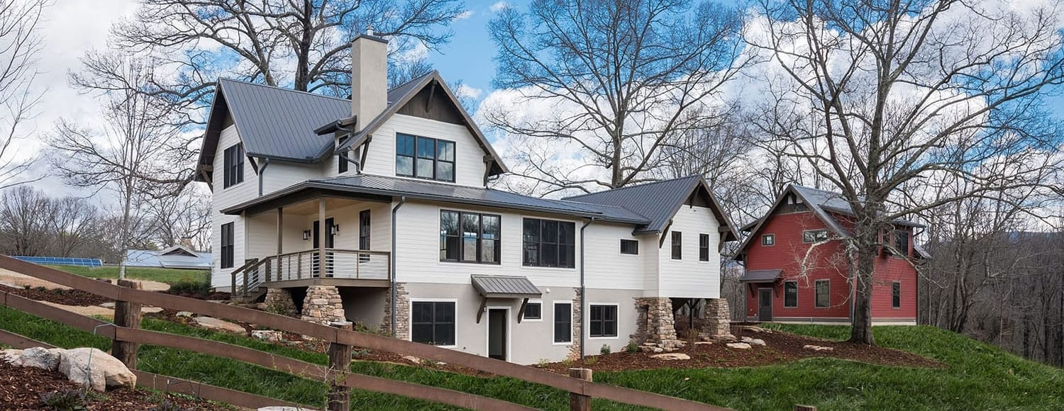 Asheville Home Builders | Contemporary Farmhouse | WSM Craft